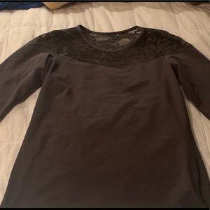 Dark Gray Torrid Shirt w/ Lace